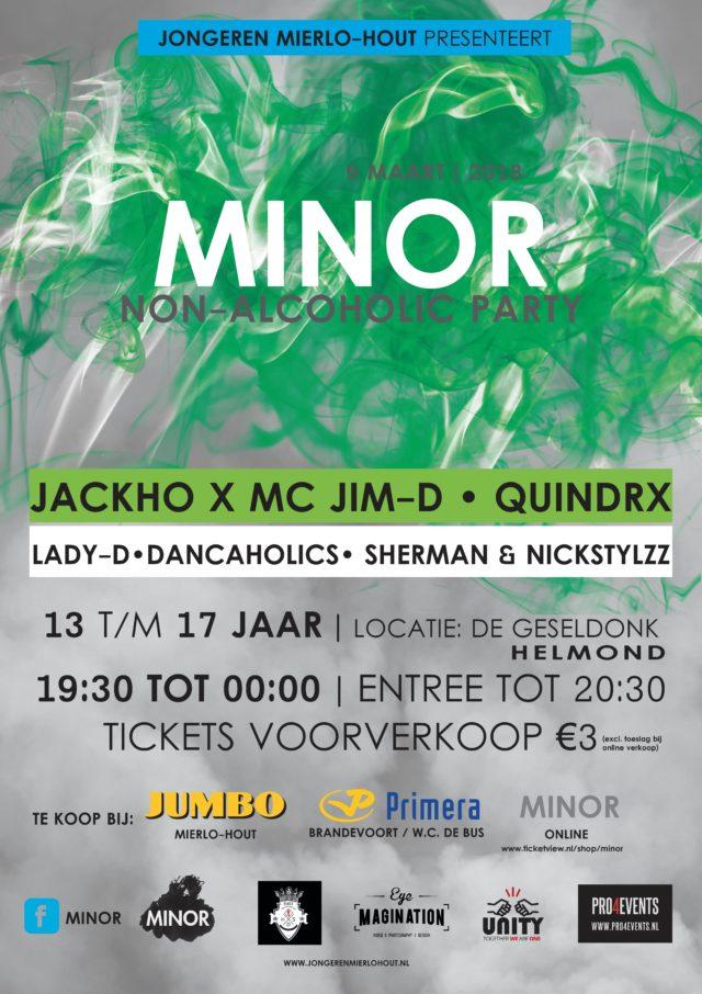 Vrijdag Minor frisfeest voor jongeren van 13 t/m 17 jaar