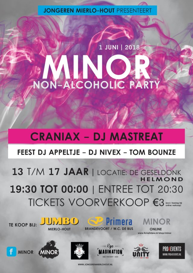 Vrijdag Minor in Wijkhuis De Geseldonk met dj Craniax!