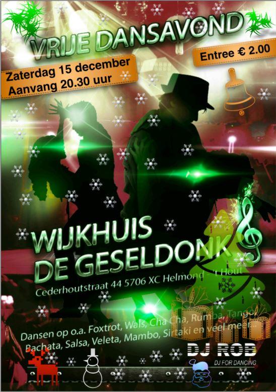 Kersteditie dansavond in De Geseldonk