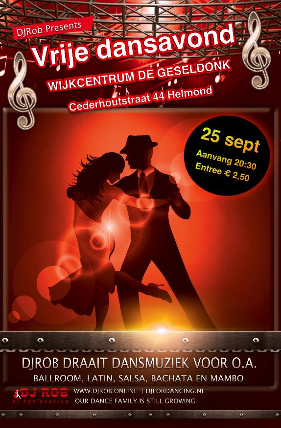 Vrije dansavond in de Geseldonk